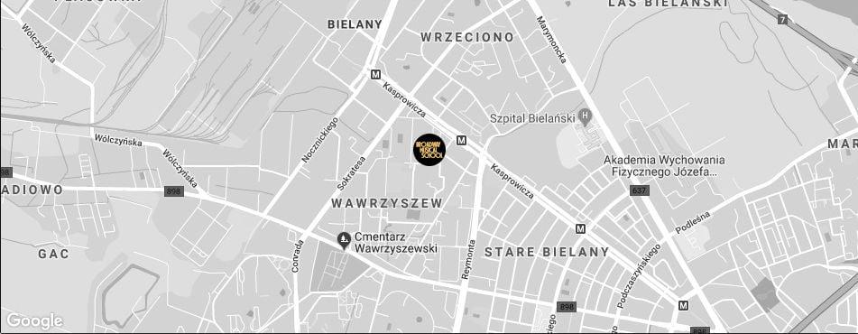 Broadway Musical School Warszawa - Bielany mapa