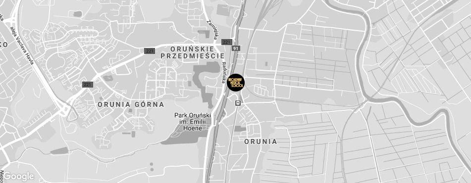 Broadway Musical School Trójmiasto - Gdańsk-Orunia mapa
