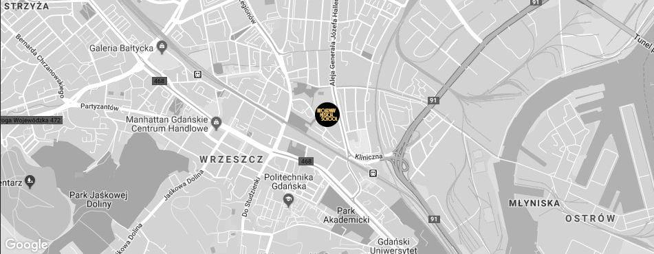 Broadway Musical School Trójmiasto - Gdańsk-Wrzeszcz mapa