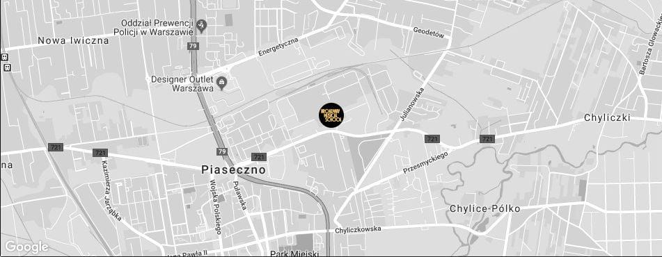 Broadway Musical School Warszawa - Piaseczno mapa