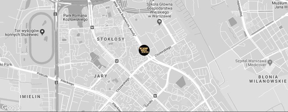 Broadway Musical School Warszawa - Ursynów 1 mapa