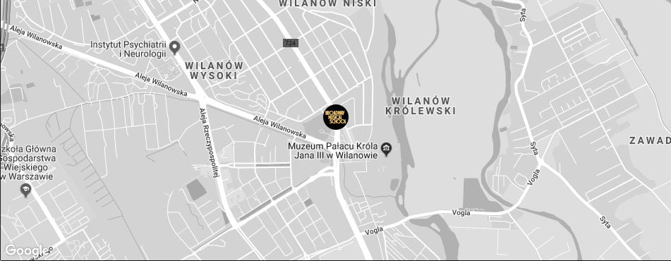 Broadway Musical School Warszawa - Wilanów mapa