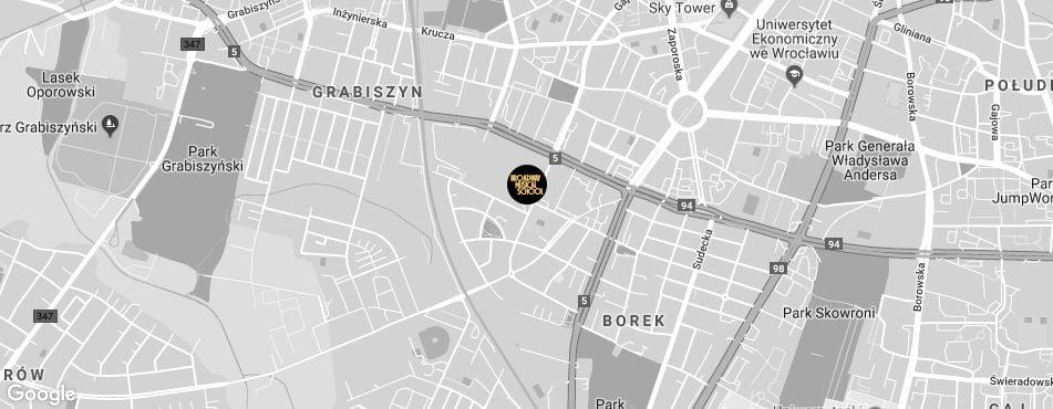 Broadway Musical School Wrocław - Krzyki mapa