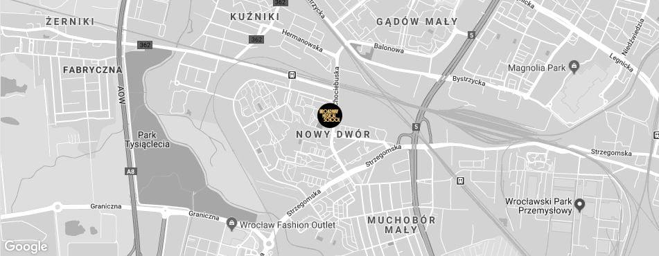 Broadway Musical School Wrocław - Nowy Dwór mapa