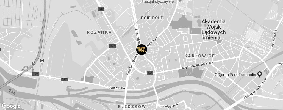 Broadway Musical School Wrocław - Psie Pole mapa