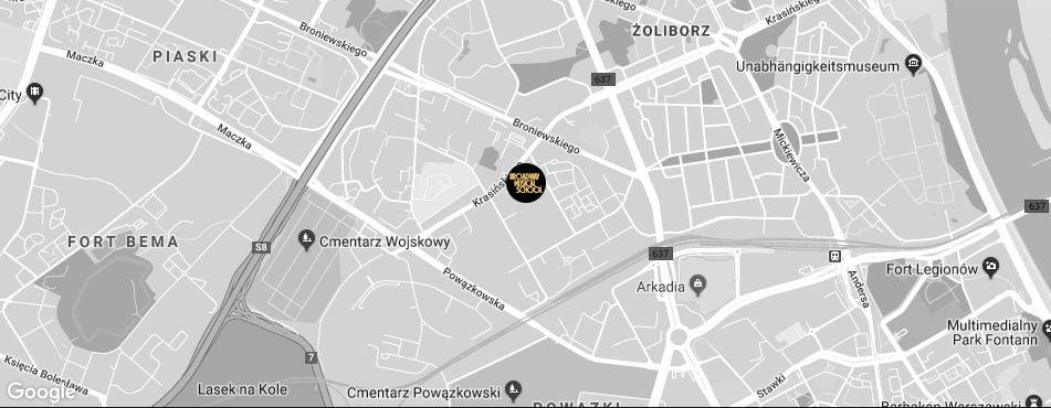 Broadway Musical School Warszawa - Żoliborz mapa