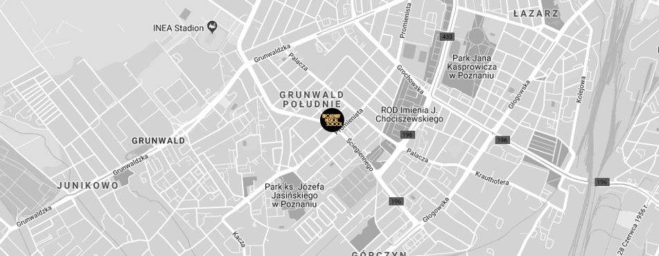 Broadway Musical School Poznań - Grunwald mapa