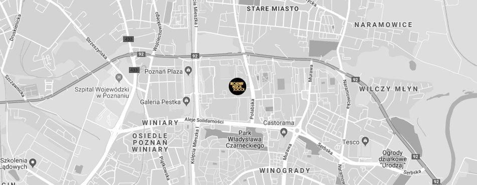 Broadway Musical School Poznań - Winogrady mapa