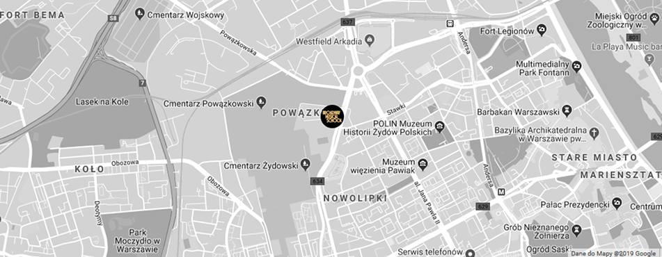 Broadway Musical School Warszawa - Żoliborz-Wola mapa